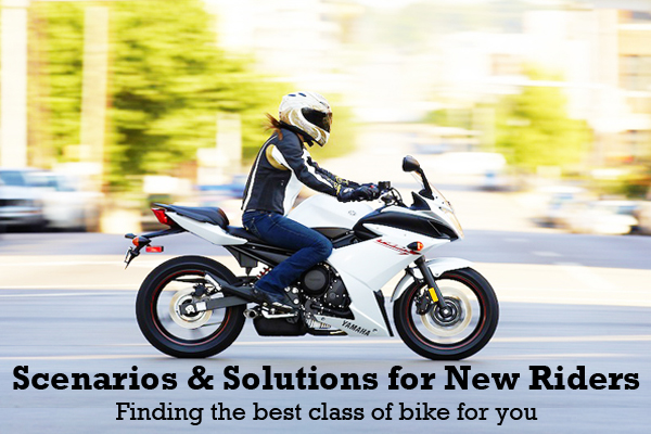 Our collection of scenarios and solutions for the first-time motorcycle buyer, with tips geared specifically toward women riders.