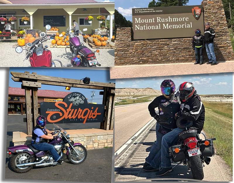 teaching husband to ride motorcycles honda cruiser shadow sturgis mount rushmore