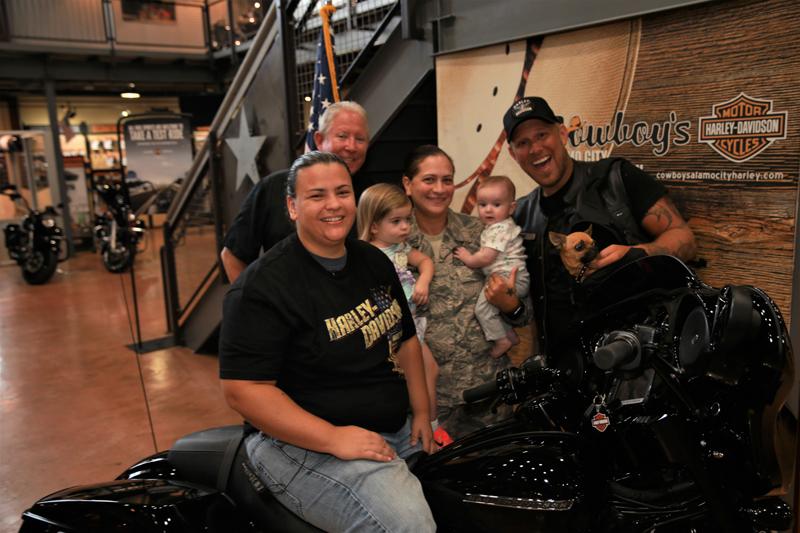 female retired air force medic receives new motorcycle as gift lisa benjamin