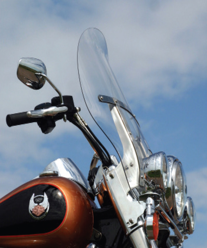 flare windshield now availabl for motorcycles without fairing