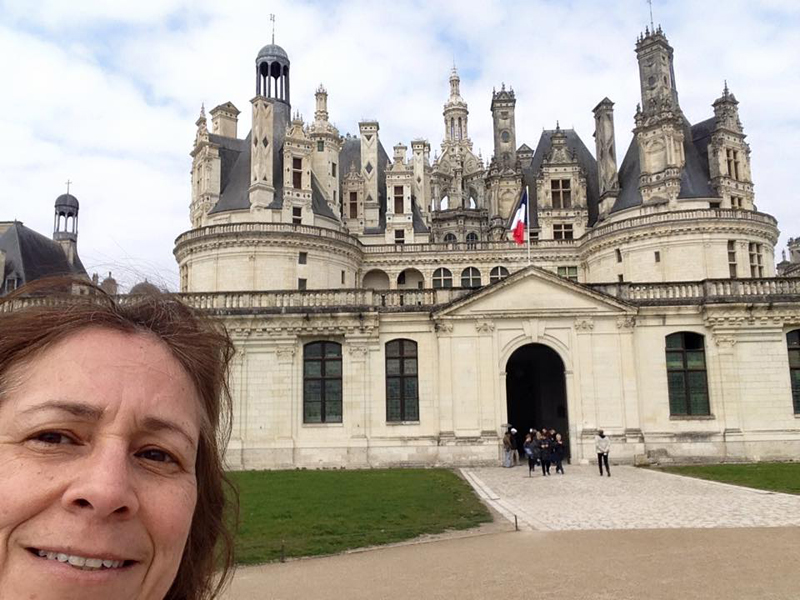 making her dream of riding a motorcycle come true chateau de chambord