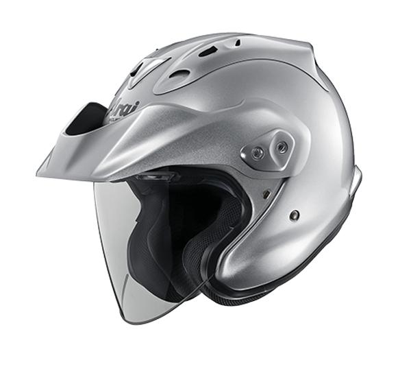 review open face arai ctz helmet aluminum silver