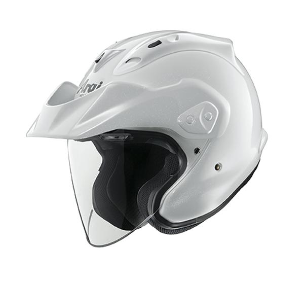 review open face arai ctz helmet diamond white