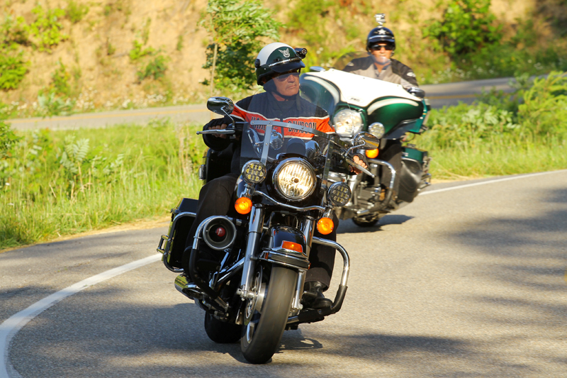 Motorcycle Riding on the Tail of the Dragon Harley