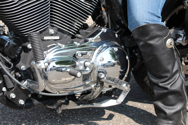 ride motorcycle without clutch derby cover