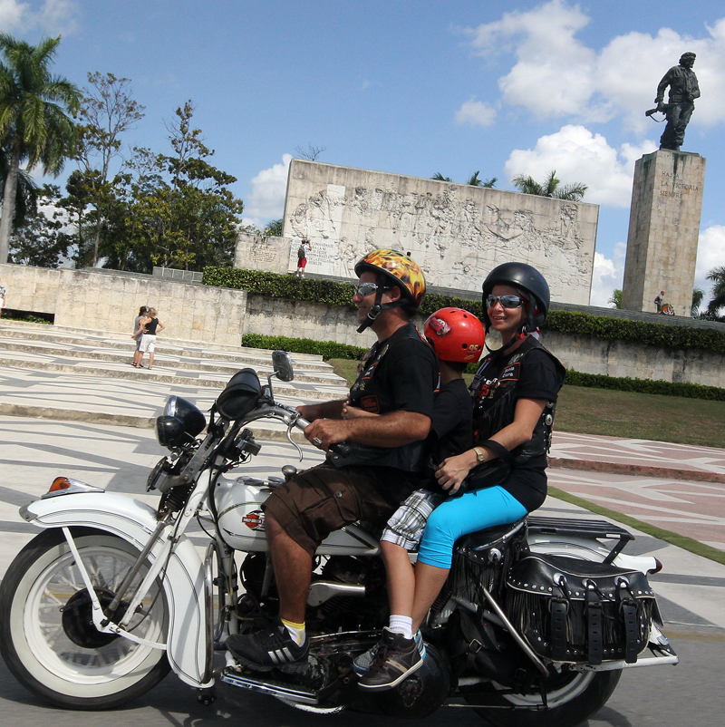 all women motorcycle tour in cuba vintage harley