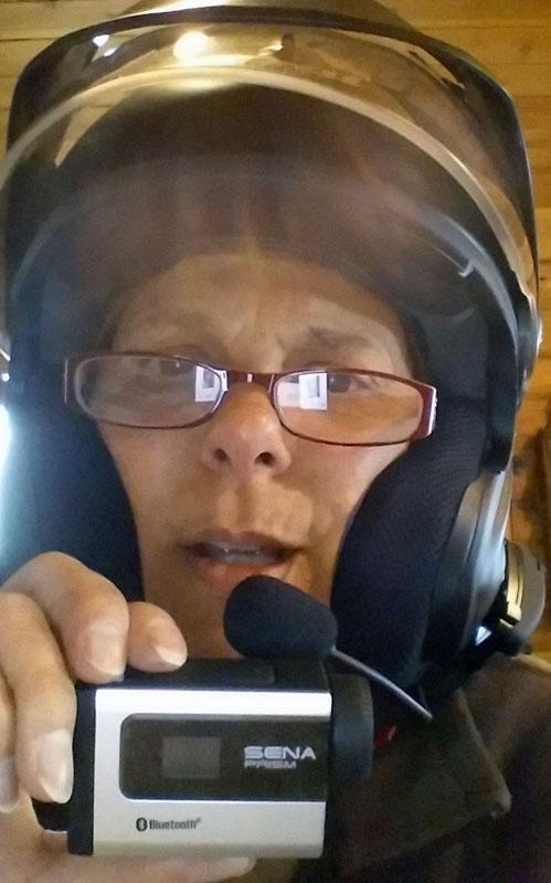 review sena 20S and prism camera seflie
