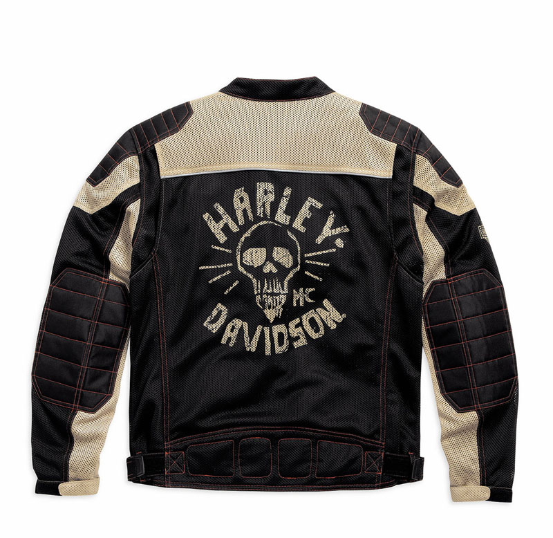 Mesh Motorcycle Riding Jackets from Harley Davidson for Hot Weather Ghost Town Jacket men