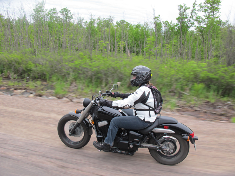 how to ride your street motorcycle in loose gravel honda shadow