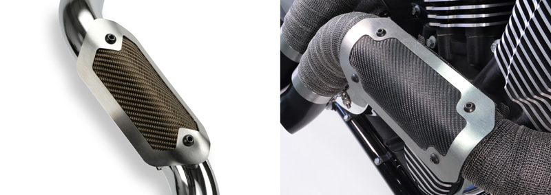 video line of popular heat shields for motorcycle exhausts expands DEI