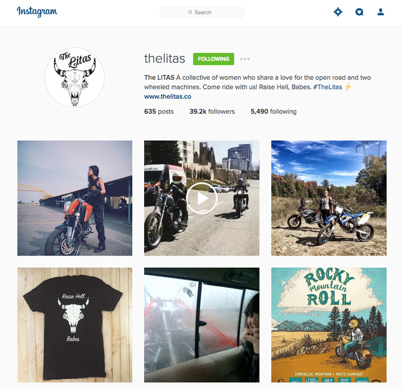 fastest growing womens motorcycle group right now instagram