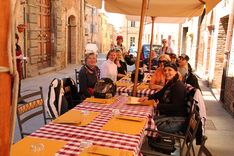 why you should ride a motorcycle in italy once in your life lunch