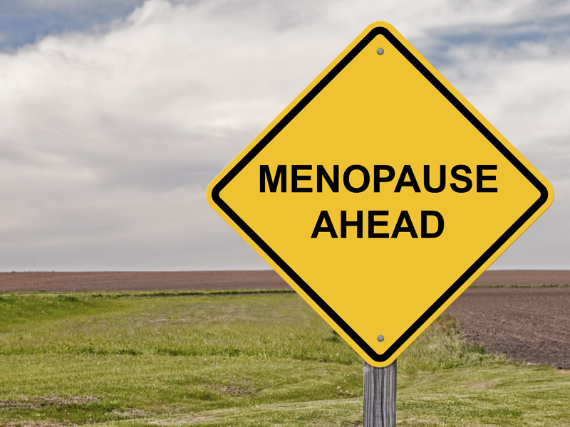 motorcycling and menopause sign