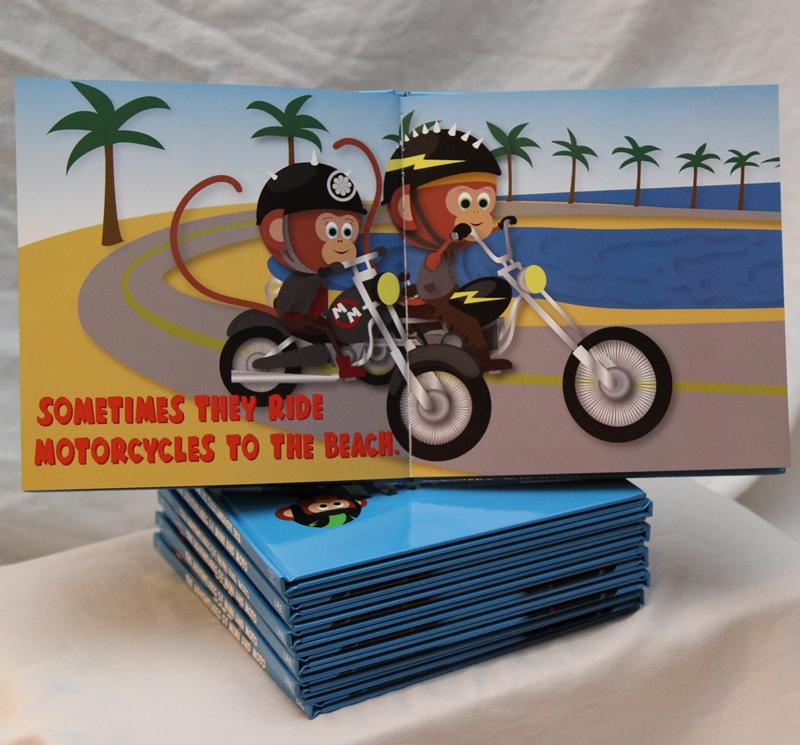 motorcycle monkeys book inside mimi and moto