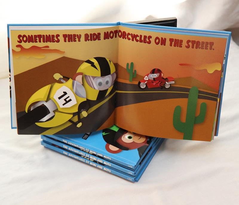 motorcycle monkeys book inside street