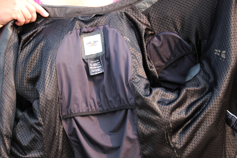 review miss enthusiast mid weight black leather motorcycle jacket armor pockets