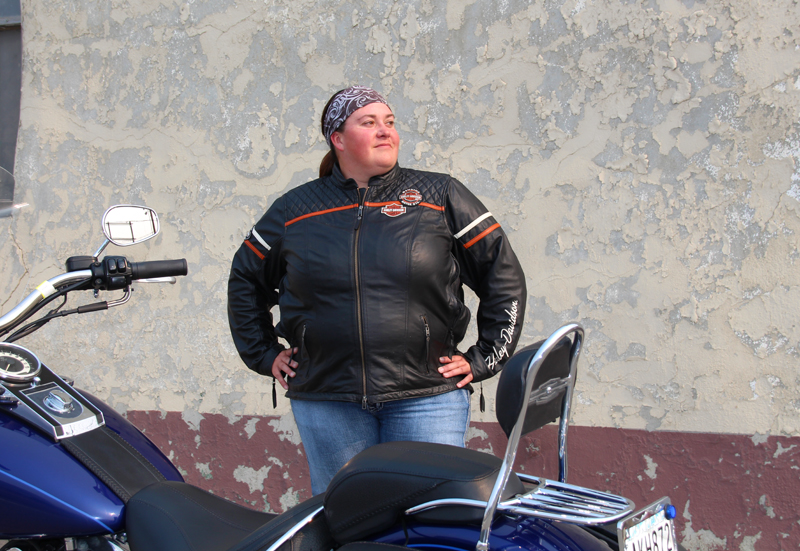 review miss enthusiast mid weight black leather motorcycle jacket harley davidson