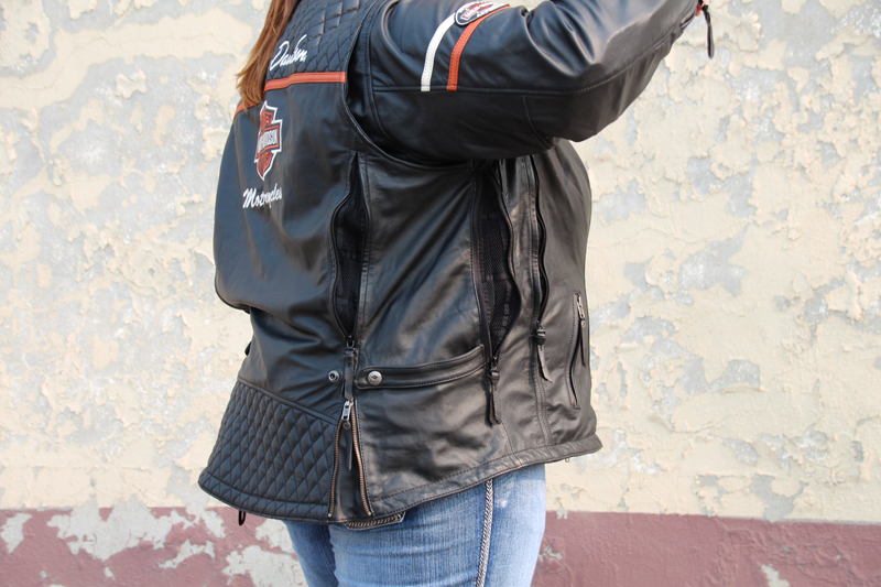 review miss enthusiast mid weight black leather motorcycle jacket custom fit