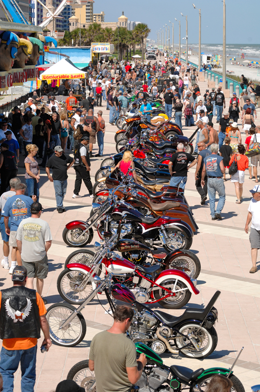 daytona bike week motorcycles beach
