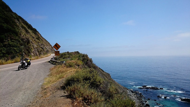 American motorcycle expedition by Polish woman ocean highway