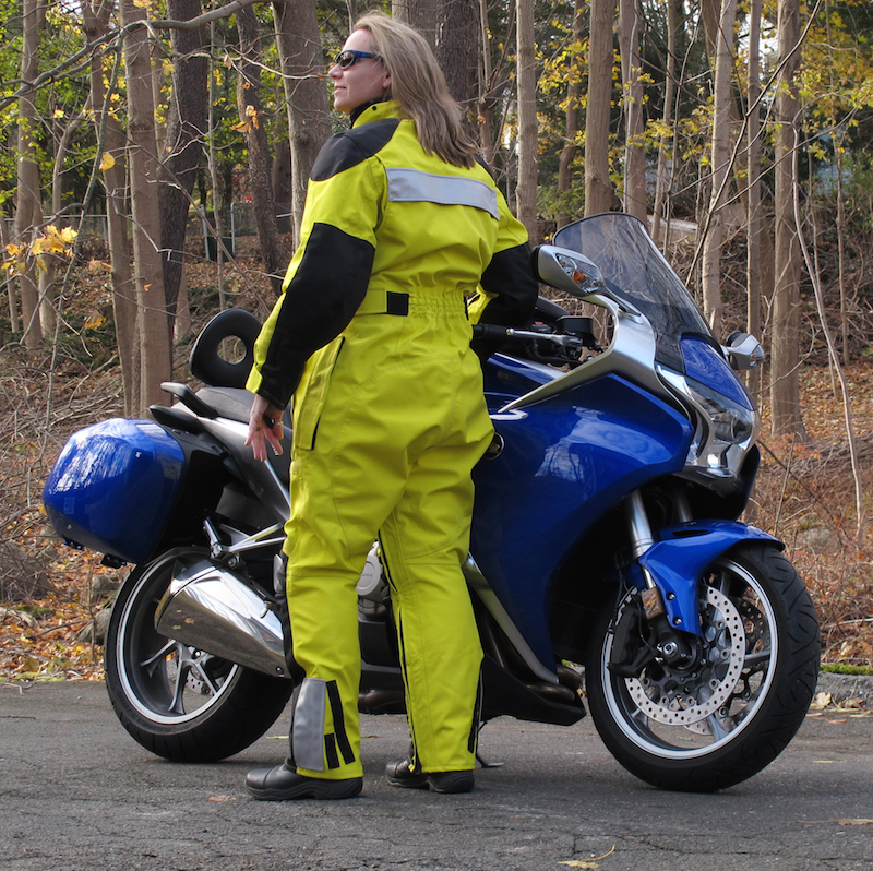 review aerostich womens roadcrafter motorcycle riding suit rear