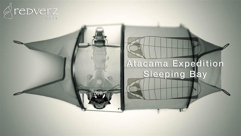 purpose built tents for motorcycle camping atacama visual