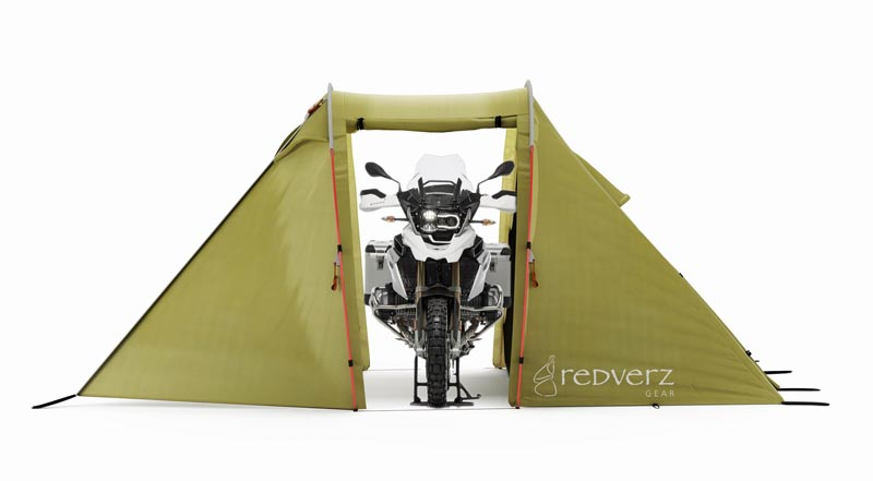 purpose built tents for motorcycle camping