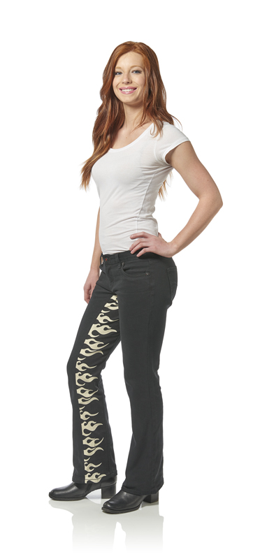 review gravitate jeans designed for motorcycle riders and passengers flames