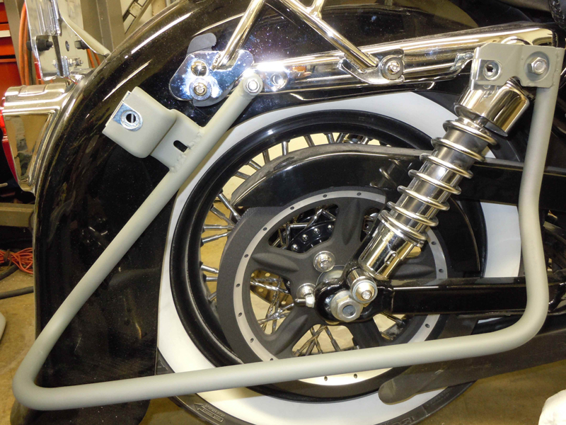 your motorcycles a wicked sportster saddlebag bracket