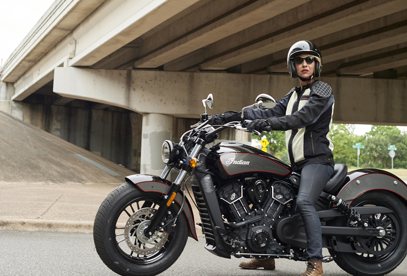 indian motorcycle unveils 2018 models scout woman rider