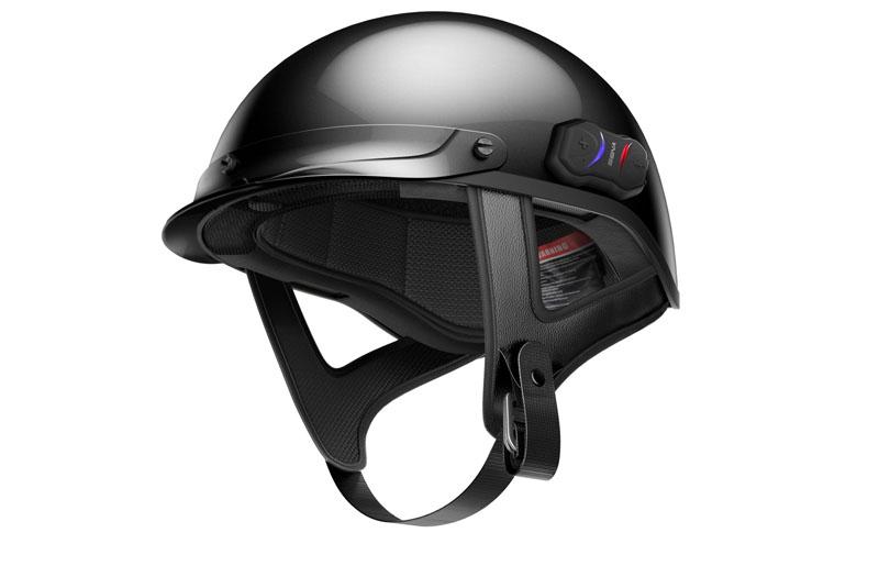 first bluetooth enabled half helmet