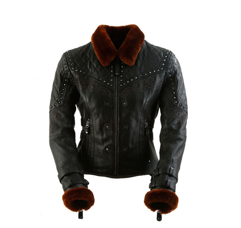 review vintage styled leather womens motorcycle jacket sheared beaver