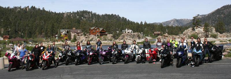 recap of womens sportbike rally west group photo