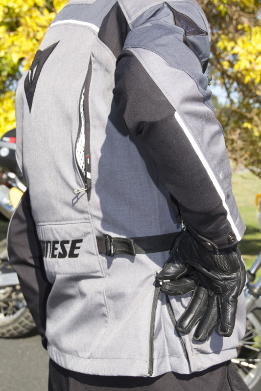 review dainese d-dry tempest jacket and pants waist zipper