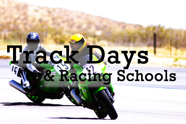 Our list of track days, track schools and racing schools.
