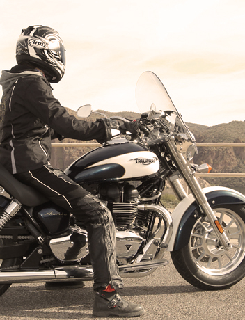 strong rider skittish after accident triumph america