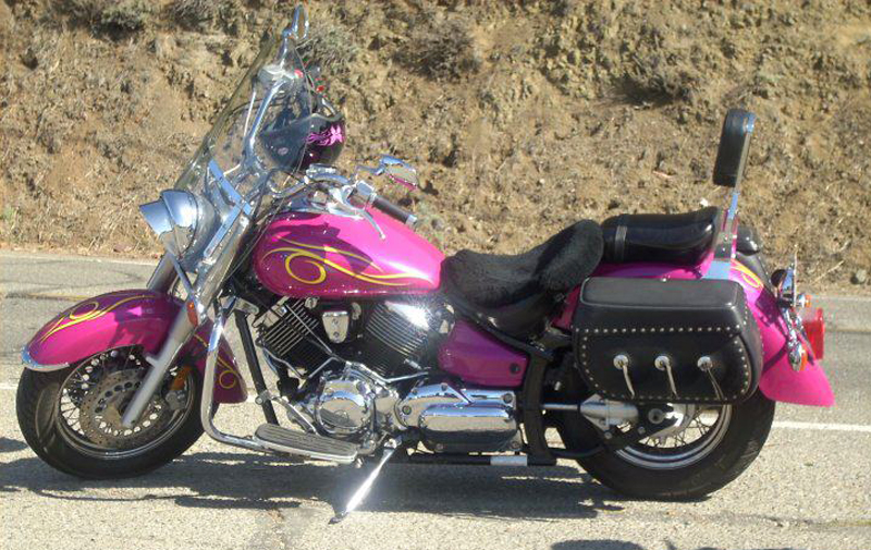pink motorcycles 2002