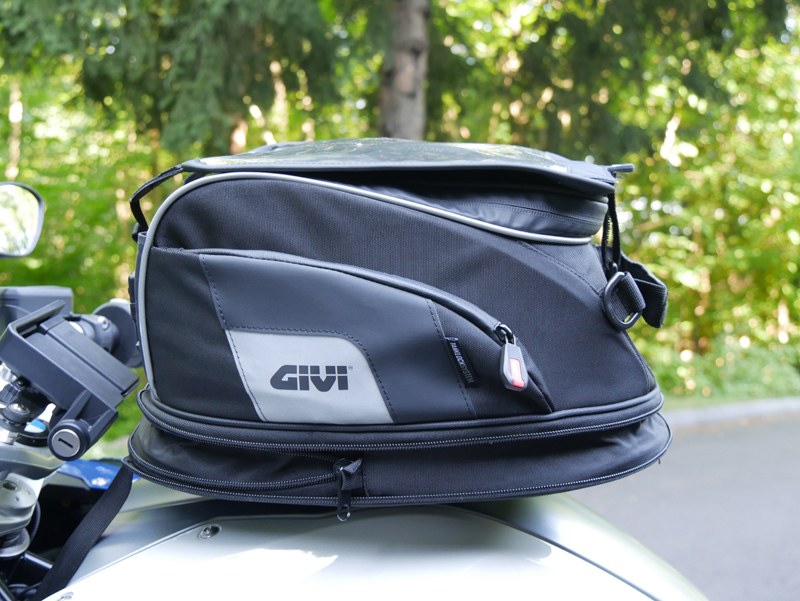easy mount tank bags for standard sport sport-touring motorcycle tanklock expanded