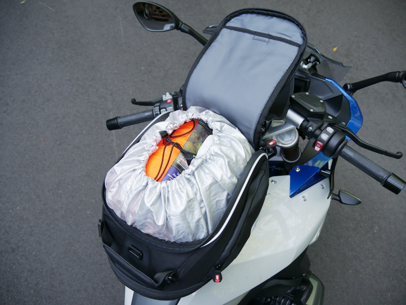 easy mount tank bags for standard sport sport-touring motorcycle tanklock XS307 open cinched