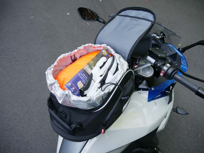 easy mount tank bags for standard sport sport-touring motorcycle XS307 open