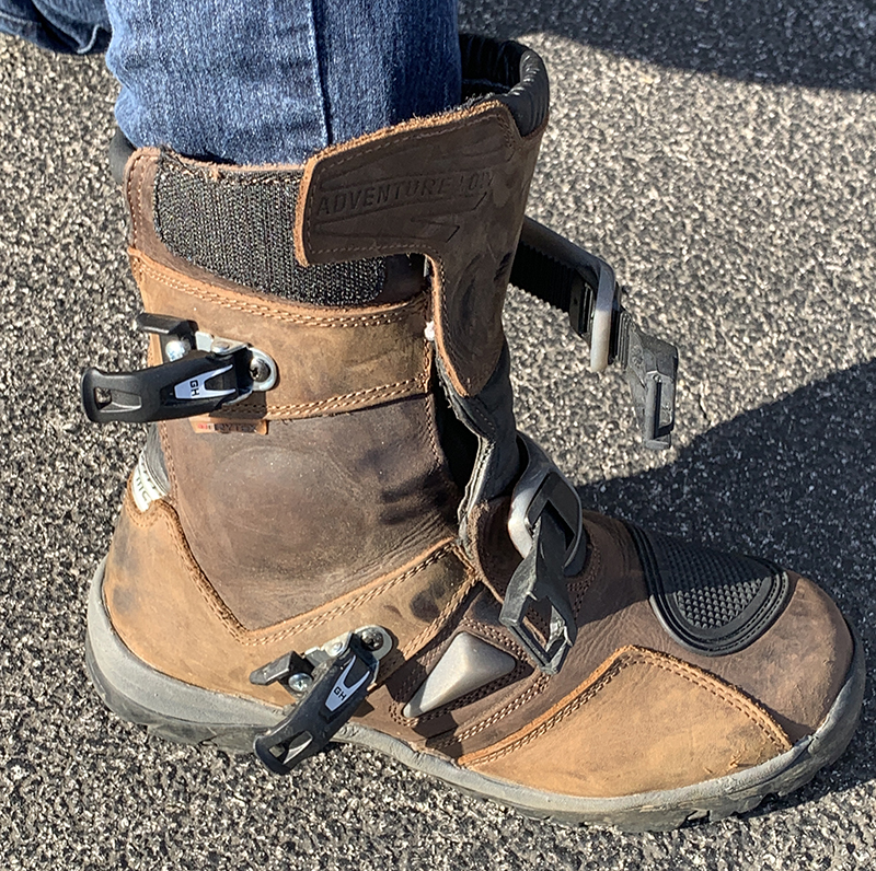 forma adventure low motorcycle riding boot brown buckles