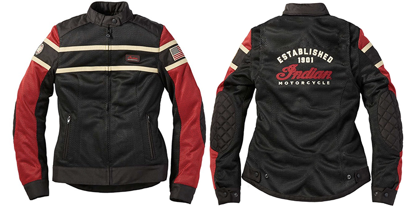 new womens motorcycle riding jacket indian arlington red