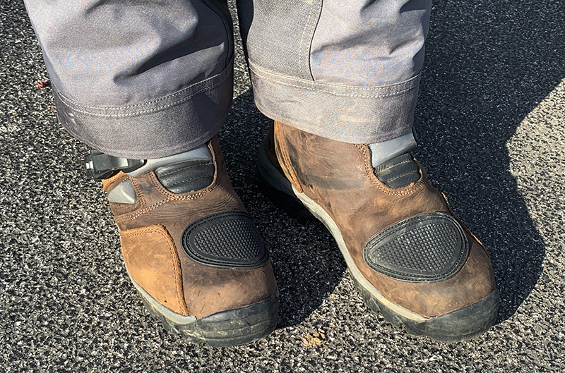 forma adventure low men's riding boot brown toe pad