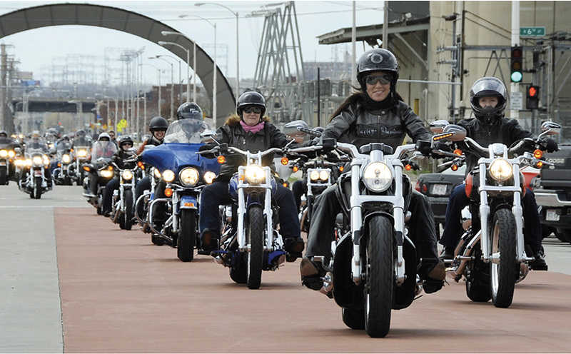 Harley-Davidson Joins Suffragists Centennial Motorcycle Ride as Presenting Sponsor women riders