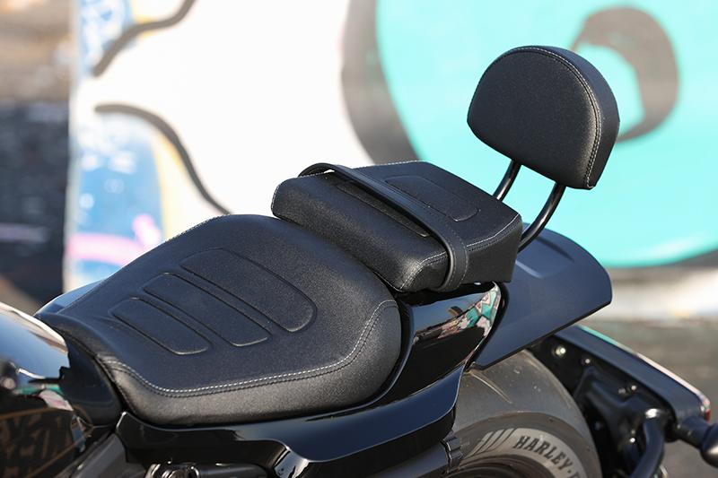 Harley-Davidson Sportster S passenger pillion seat and backrest
