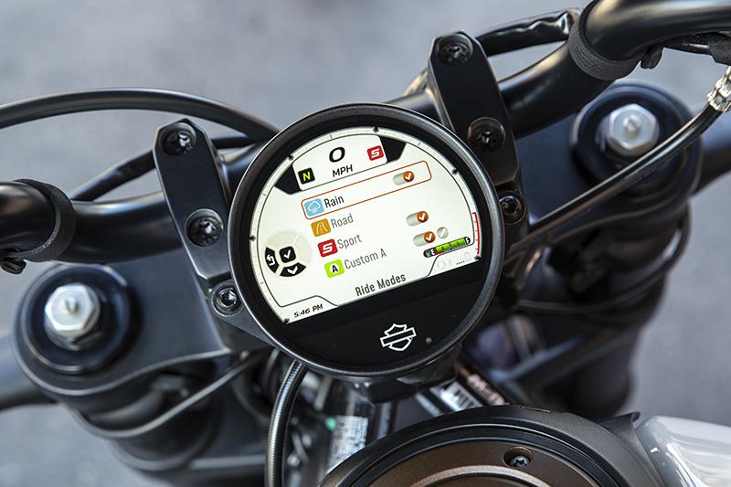 Sportster S TFT ride modes Sport Road Rain