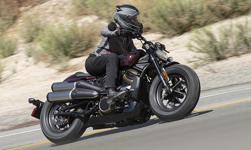 WomenRidersNow.com Erin Sills riding the Harley-Davidson 2022 Sportster S