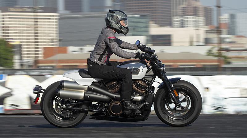 Erin Sills riding the Harley-Davidson Sportster S