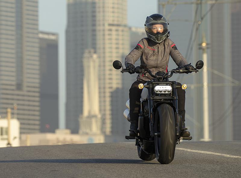 Erin Sills riding the 2022 Harley-Davidson Sportster S