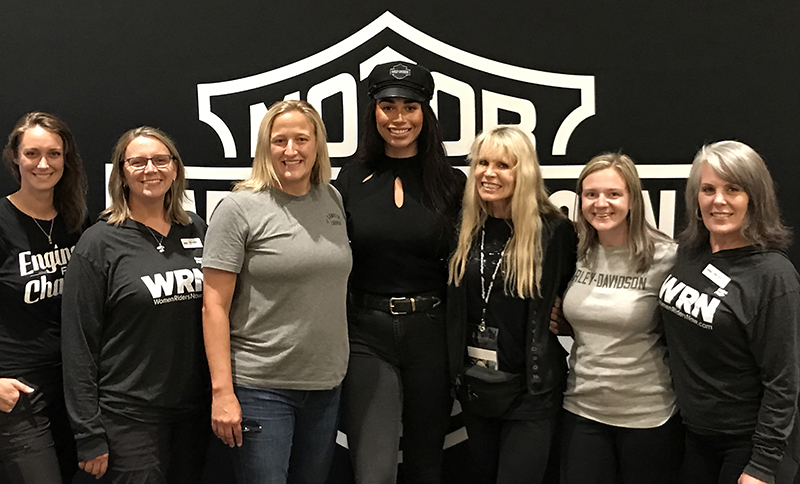 WomenRidersNow.com staff had the rare opportunity to meet some of the women heading up the Harley-Davidson events team as well as Karen Davidson herself.